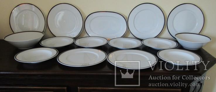 Сервиз. Блюдо огромные тарелки блюда салатники фарфор кобальт Германия, фото №3