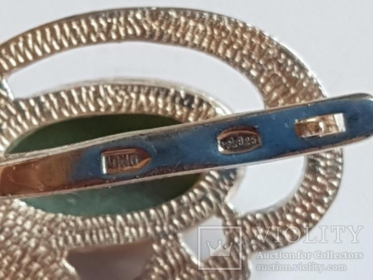Набор кольцо + серьги. Серебро 925 проба. Размер кольца 18, фото №8