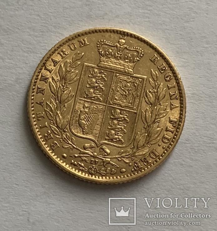 1 sovereign 1866 року (rev. shield), фото №3