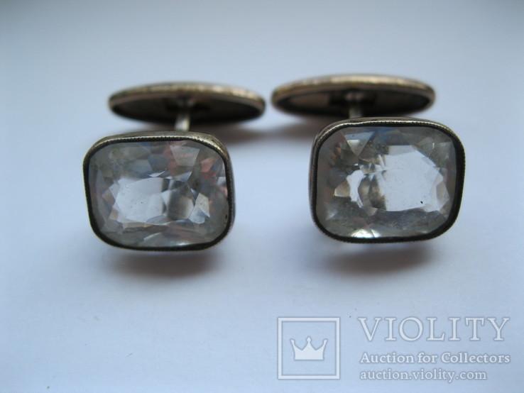 Серебряные запонки 875 пр., фото №2