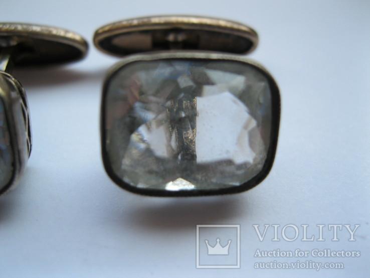 Серебряные запонки 875 пр., фото №4