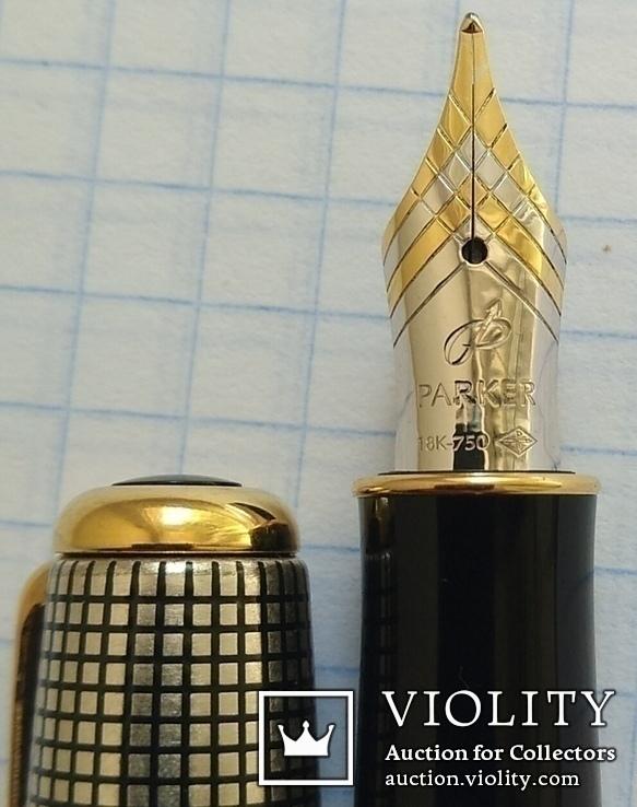 Ручка Паркер Сонет. Серебро, золото, элитная серия.