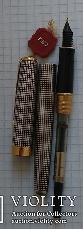 Ручка Паркер Сонет. Серебро, золото, элитная серия., фото №5