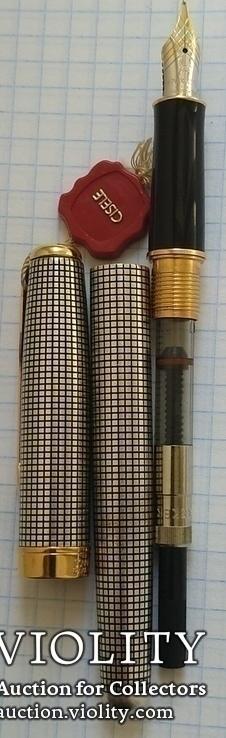 Ручка Паркер Сонет. Серебро, золото, элитная серия., фото №7