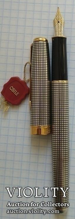 Ручка Паркер Сонет. Серебро, золото, элитная серия., фото №10