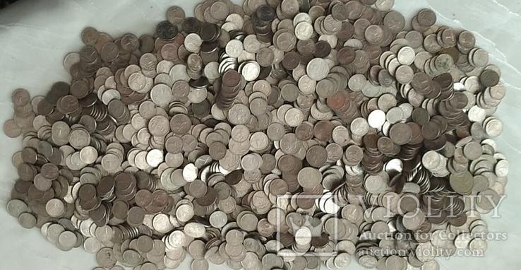 3,2 кг 1 и 5 копієчних монет Російської Федерації.