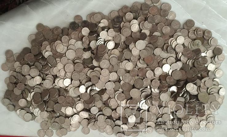 3,2 кг 1 и 5 копієчних монет Російської Федерації., фото №3