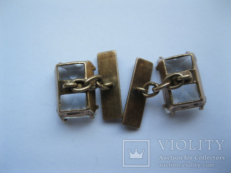 Серебряные запонки 875 пр., фото №7
