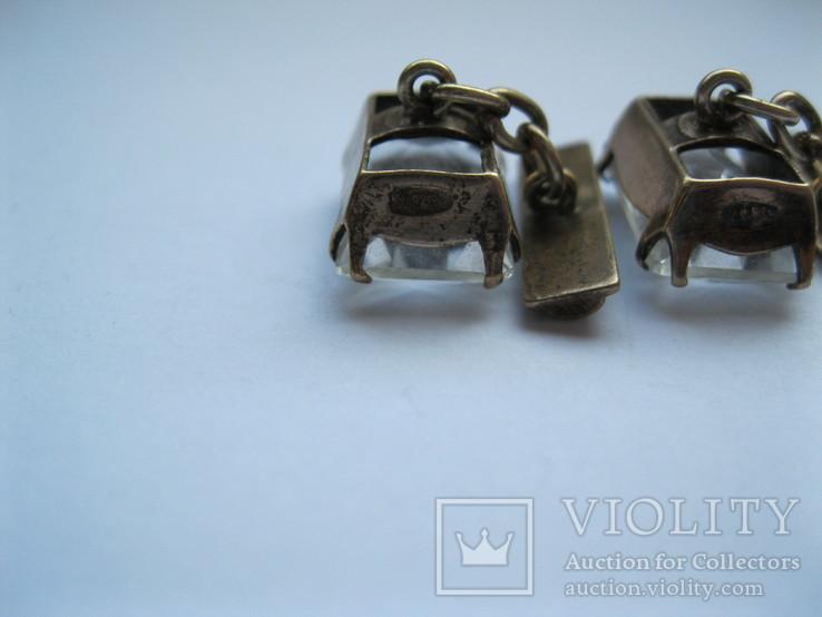 Серебряные запонки 875 пр., фото №9