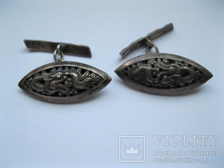Серебряные запонки (Вьетнам), фото №2