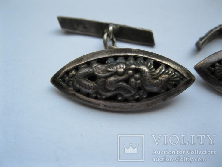 Серебряные запонки (Вьетнам), фото №3