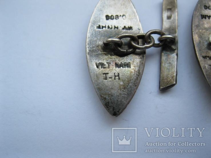 Серебряные запонки (Вьетнам), фото №8