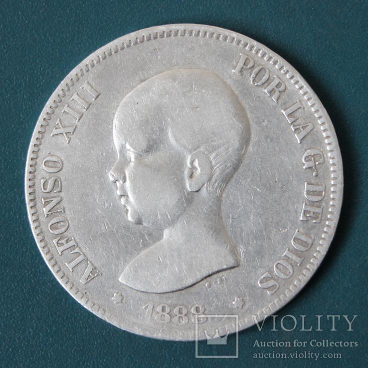 5 песет 1888
