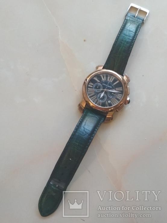 Часы наручные Зеленый браслет под золото, фото №3