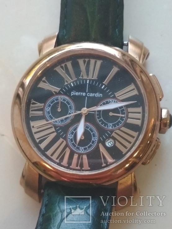 Часы наручные Зеленый браслет под золото