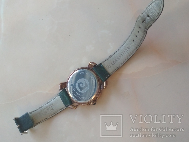Часы наручные Зеленый браслет под золото, фото №7