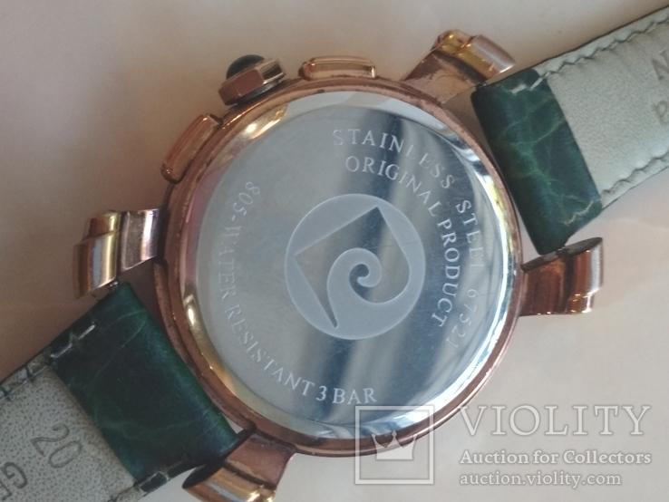 Часы наручные Зеленый браслет под золото, фото №8