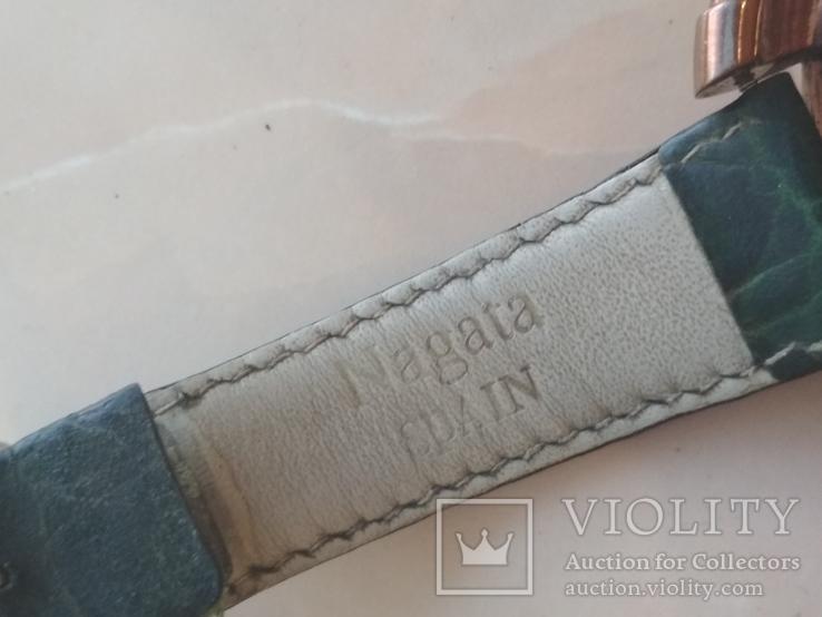 Часы наручные Зеленый браслет под золото, фото №9