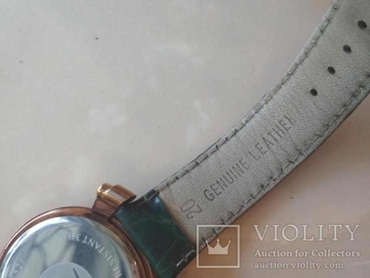 Часы наручные Зеленый браслет под золото, фото №10