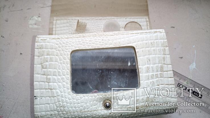 Наче шкіряна сумочка із дзеркалом, часів  СССР., фото №5
