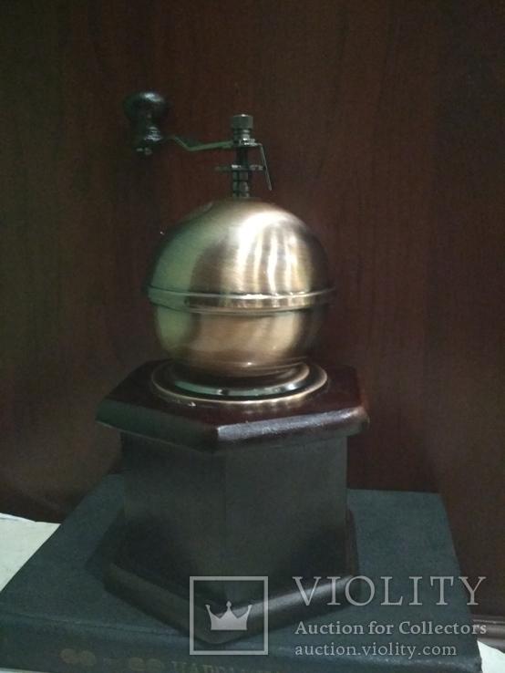 Кофемолка коллекционная дерево медь, фото №4