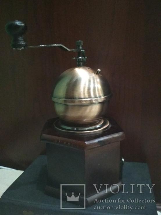 Кофемолка коллекционная дерево медь, фото №5