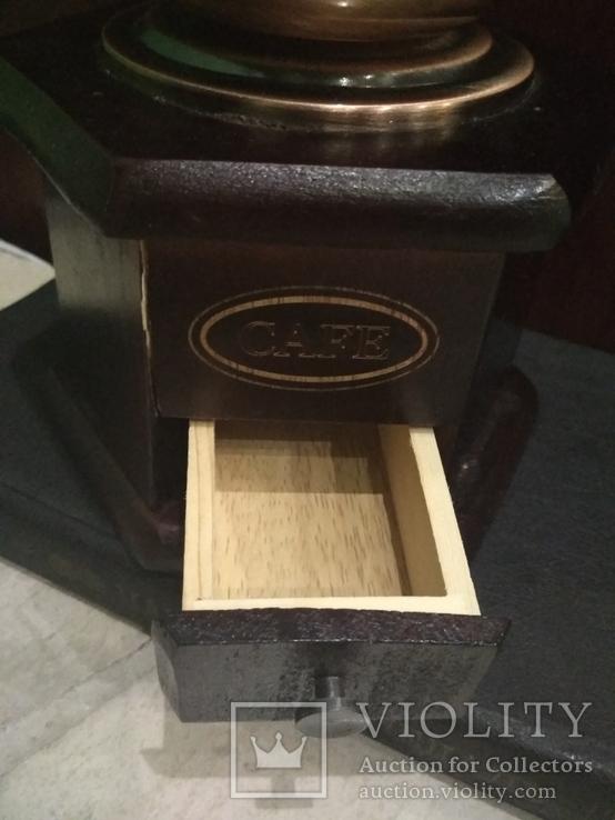 Кофемолка коллекционная дерево медь, фото №8