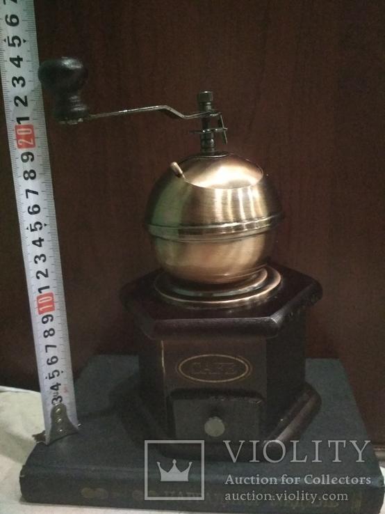 Кофемолка коллекционная дерево медь, фото №11