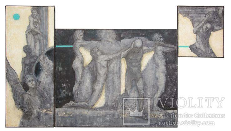 """Картина маслом триптих """"Калокагатия"""", 315х180см"""