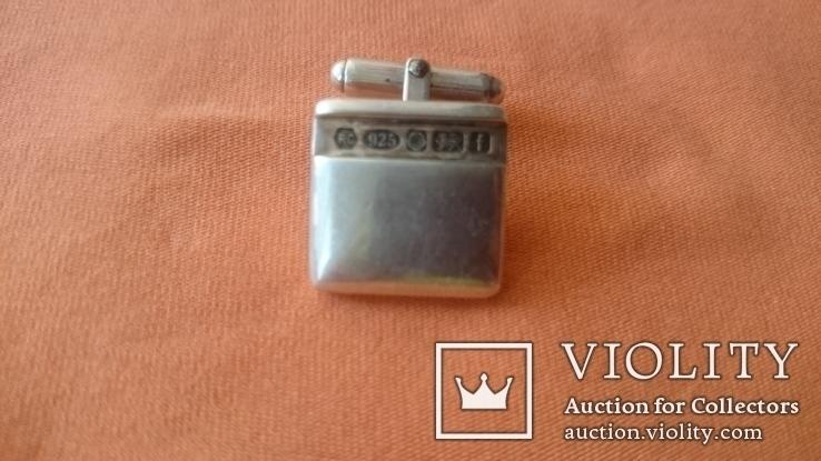 Запонки серебро 925 проба (Англия), фото №6