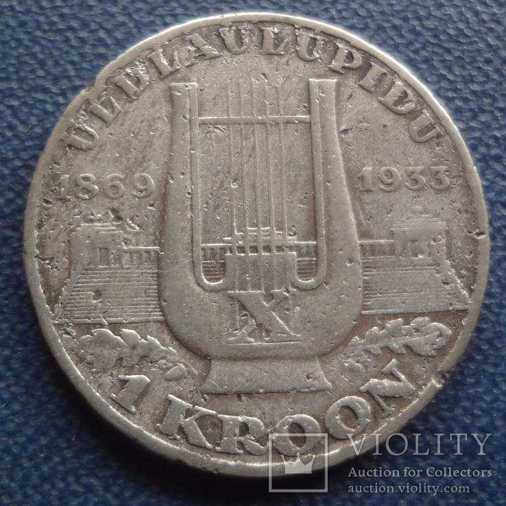 1 крона 1933 Эстония серебро   (,1.2.6)~