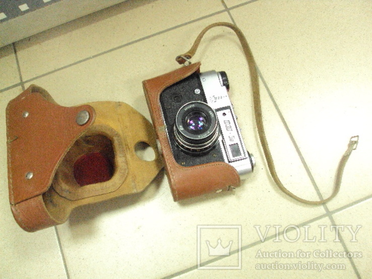 Фотоаппарат фэд 5 в олимпиада с чехлом, фото №4