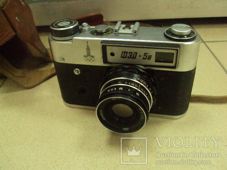 Фотоаппарат фэд 5 в олимпиада с чехлом, фото №2