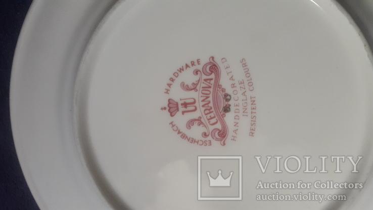 Старинная фарфоровая  тарелка, фото №2