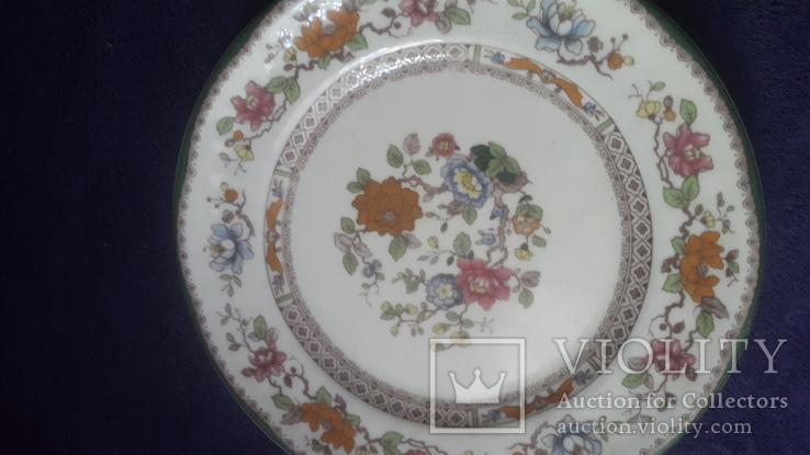 Старинная фарфоровая  тарелка, фото №3
