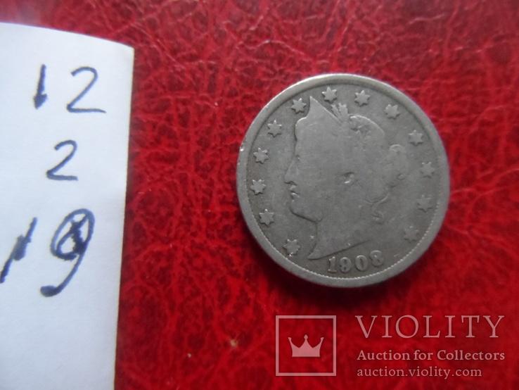 5 центов 1908 США   (,12.1.19)~, фото №5