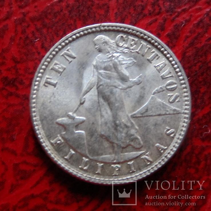 10 сентаво 1945 Филиппины серебро  (,12.1.29)~, фото №5