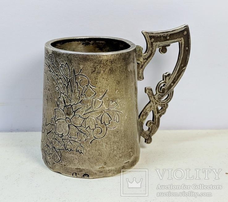 Серебряная чарка.  84 пр. 1890 г.