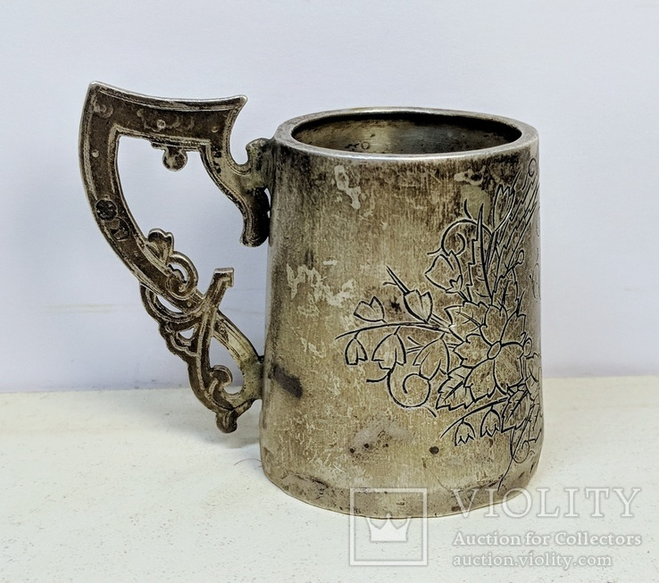 Серебряная чарка.  84 пр. 1890 г., фото №4