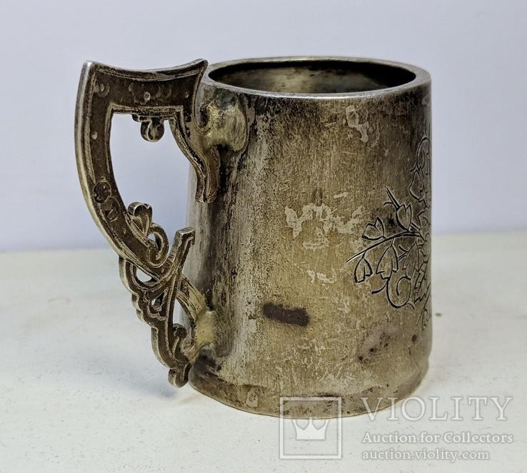Серебряная чарка.  84 пр. 1890 г., фото №5