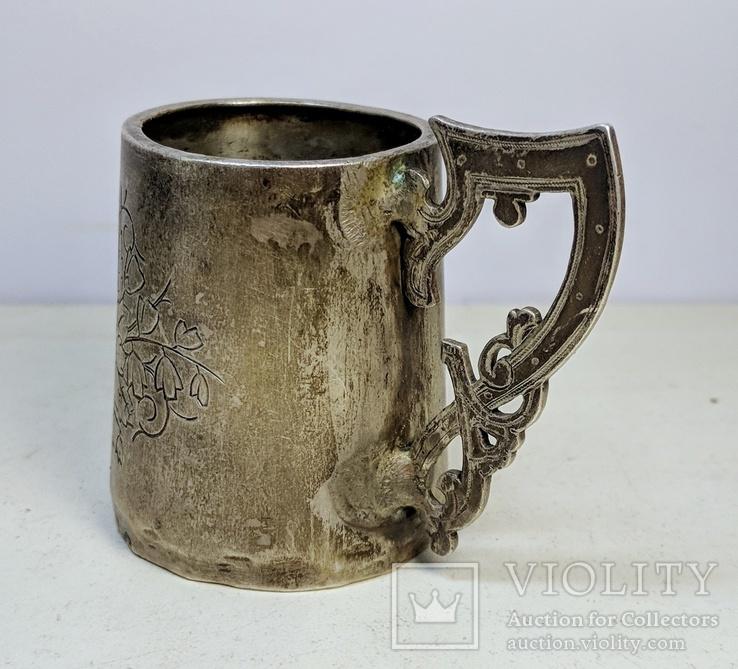 Серебряная чарка.  84 пр. 1890 г., фото №6