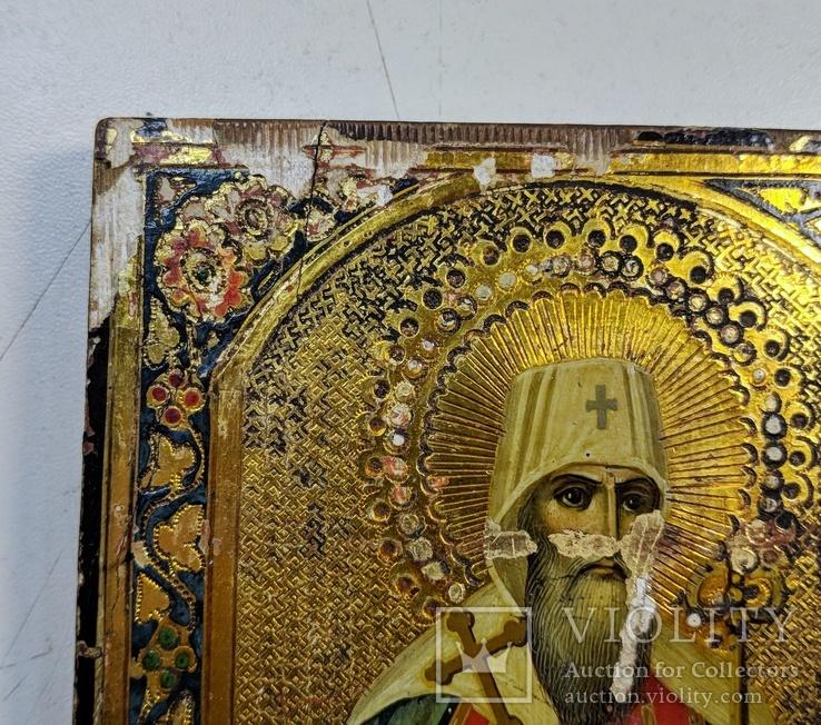 Икона '' Святой Иоанн митр. Тобольский '', фото №4