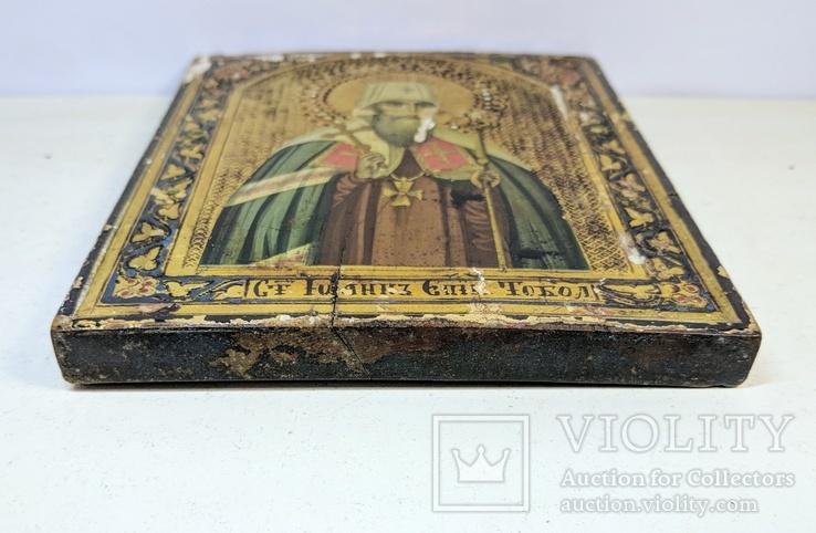 Икона '' Святой Иоанн митр. Тобольский '', фото №12