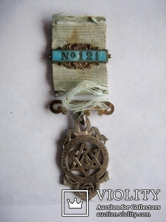 Старий масонський знак 121  (срібло), фото №4