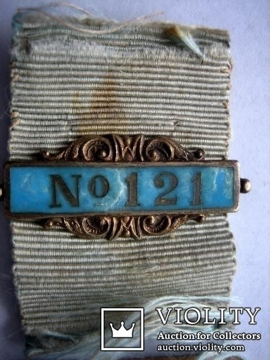Старий масонський знак 121  (срібло), фото №5