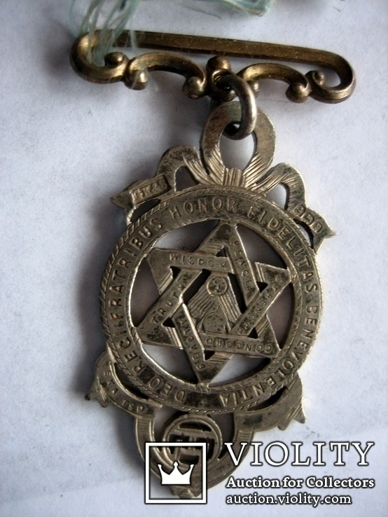 Старий масонський знак 121  (срібло), фото №8
