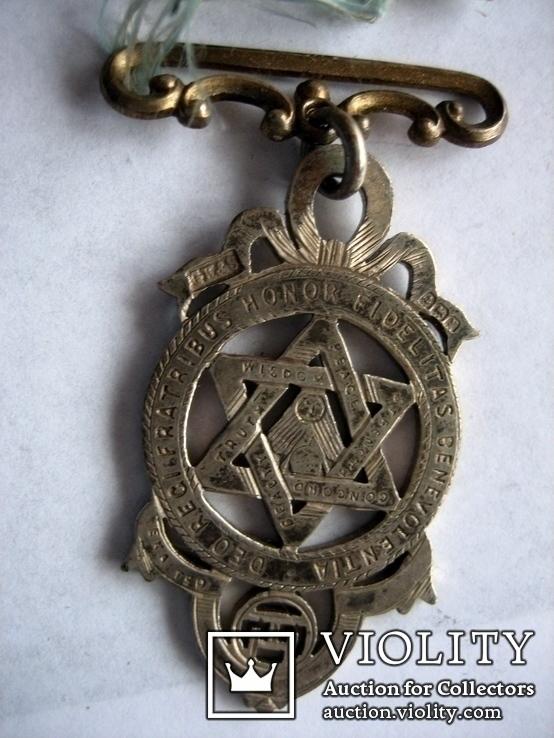 Старий масонський знак 121  (срібло), фото №9