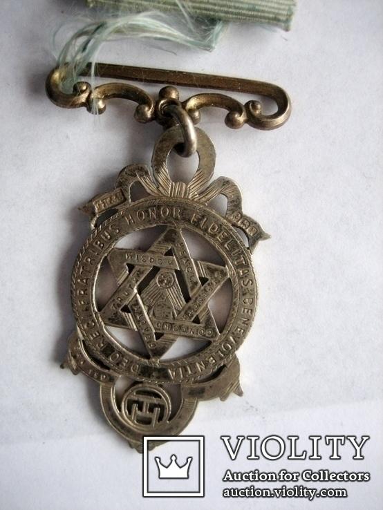 Старий масонський знак 121  (срібло), фото №10