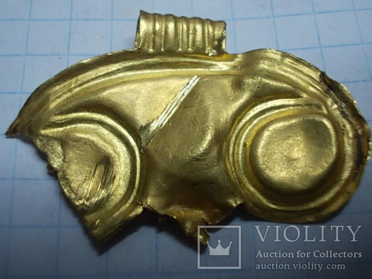 Лунница чк золото с камнем, фото №3