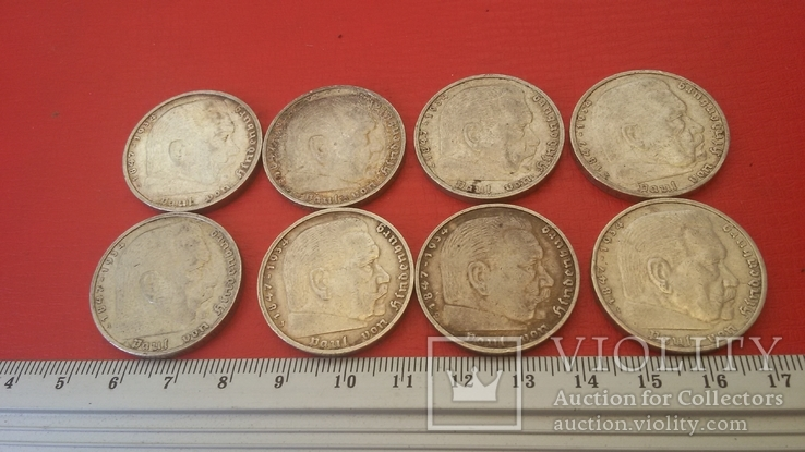 5 марок (погодовка = 8 монет), фото №9